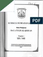 Kurikulum BTQ SD Kab Pasuruan
