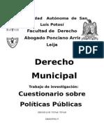 01.- Cuestionamiento a Los Candidatos Presidente Municipal