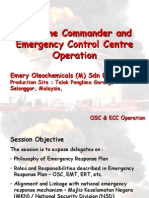 on-Scene Commander (OSC) and Emergency Control Centre (ECC) Training - Proposal