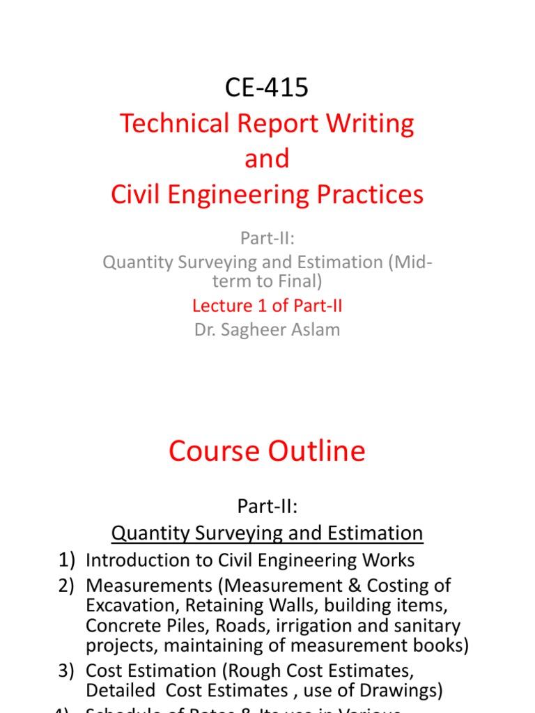 CE-415-QS-Lecture-1 | Masonry | Concrete