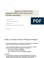Funding Conditions and Public Private Research Portfolio
