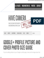 Google+ Profile Picture and Cover Photo Size Guide