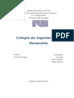 Colegio de Ing. de Venezuela Informe