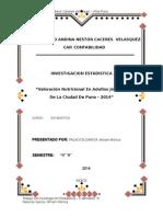 Estudio Estadistico de Evaluacion Antropometrica