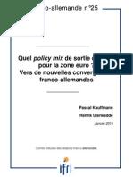 Quel policy mix de sortie de crise pour la zone euro ? Vers de nouvelles convergences franco-allemandes