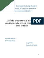 Assetto Proprietario e Modelli Di Redditività Nelle Società Calcistiche Il Caso Tedesco