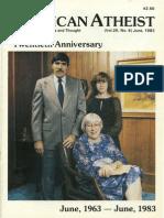 American Atheist Magazine June 1983