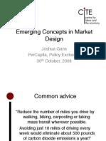 Emerging Concepts in Market Design