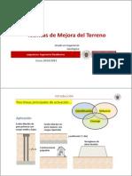 Tema 4.- Técnicas de Mejora Del Terreno