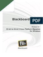 32-Bit to 64-Bit Cross Platform Migration on Windows (Learn 9.1)