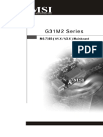 MSI g31m2v2 manual