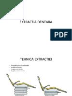 III. Extractia Dentara