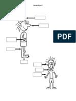 Body_parts Worksheet Cls 3