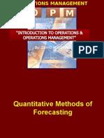 Quantative Forecasting