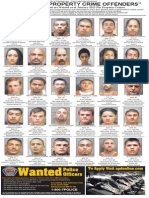 Most Wanted Property Crime Offenders, January 2015