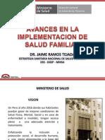 Avances en ESNSF Dr. Jaime Ramos