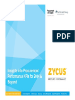 Insights Into Procurement Performance KPIs for 2014 and Beyond - Chris Sawchuck
