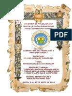 Desarrollo Investigativo - Introduccion a Las Finanzas