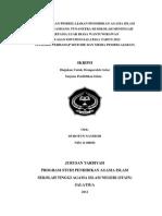 Pelaksanaan Pembelajaran Pendidikan Agama Islam - Stain Salatiga