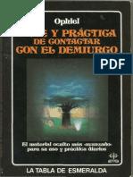 Ophiel Arte y Practica de Contactar Con El Demiurgo Opt2