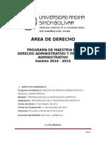 Programa Metodologia Investig - Dra Ramirez