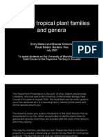 Guide to Tropical Plant Families and Genera