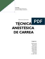 Técnica Anestésica de Carrea