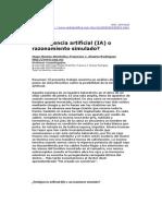 Montes, H (2002) Inteligencia Artificial o Razonamiento Simulado