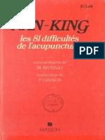 T'Sio Pien-Nan-King-Classique Des Difficultés-Les 81 Difficultés de l'Acupuncture