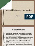 Informalletters-givingadvice