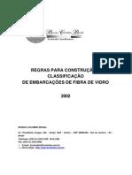 Regras para Classificação de Embarcações de Fibra de Vidro