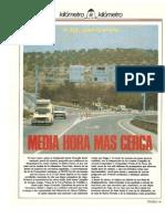 "Revista Tráfico – nº 22 – Mayo de 1987. Reportaje ""Kilómetro y kilómetro"