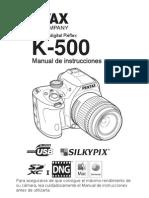 Instrucciones para Pentax D-500