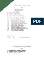 Nomina de Alumnos de Parvularia 6