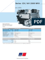 MTU 16V 2000 M93 Brochure Specification