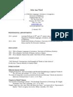 WARD CV January 2015