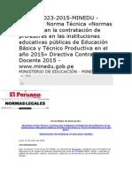 Norma Para Contratos 2015