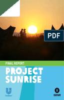 Project Sunrise: Final report