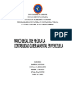 Marco Legal Que Regula La Contabilidad Gubernamental en Venezuela