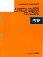 Originals and Substitutes in Museums. Stockholm - ICOFOM, 1985
