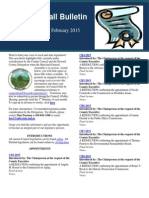 The Calvin Ball Bulletin February 2015 Legislation Edition