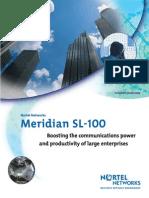 Nortel Meridian SL100 Brochure