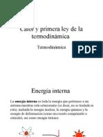 Apuntes Primera Ley de la Termodinámica