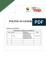 1.3.1 Políticas Generales