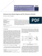 Emissions From Marine Engine and Reduction Methods