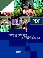 Resumo Tecnico Censo Educacao Superior 2012