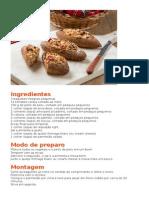 Baguete Recheada Integral de Forno