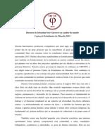 Discurso Cambio de Mando CEF 2015