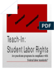 SWSU Presentation the Teach In with Kshama Sawant in October,2014