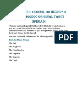 Am I jinxed, cursed or hexed? | Major Arcana | Tarot